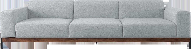 Super Wewood Mainstream Bowie Modular 3 Seat Sofa In Grey Fabric With Metal Legs Machost Co Dining Chair Design Ideas Machostcouk
