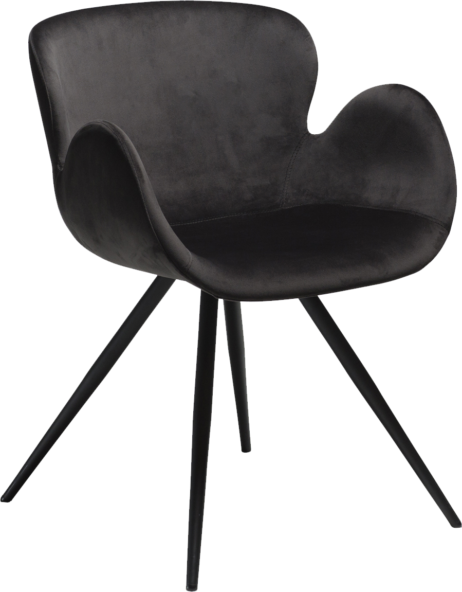 Outstanding Danform Gaia Dining Chair In Meteorite Black Velvet With Black Legs Caraccident5 Cool Chair Designs And Ideas Caraccident5Info