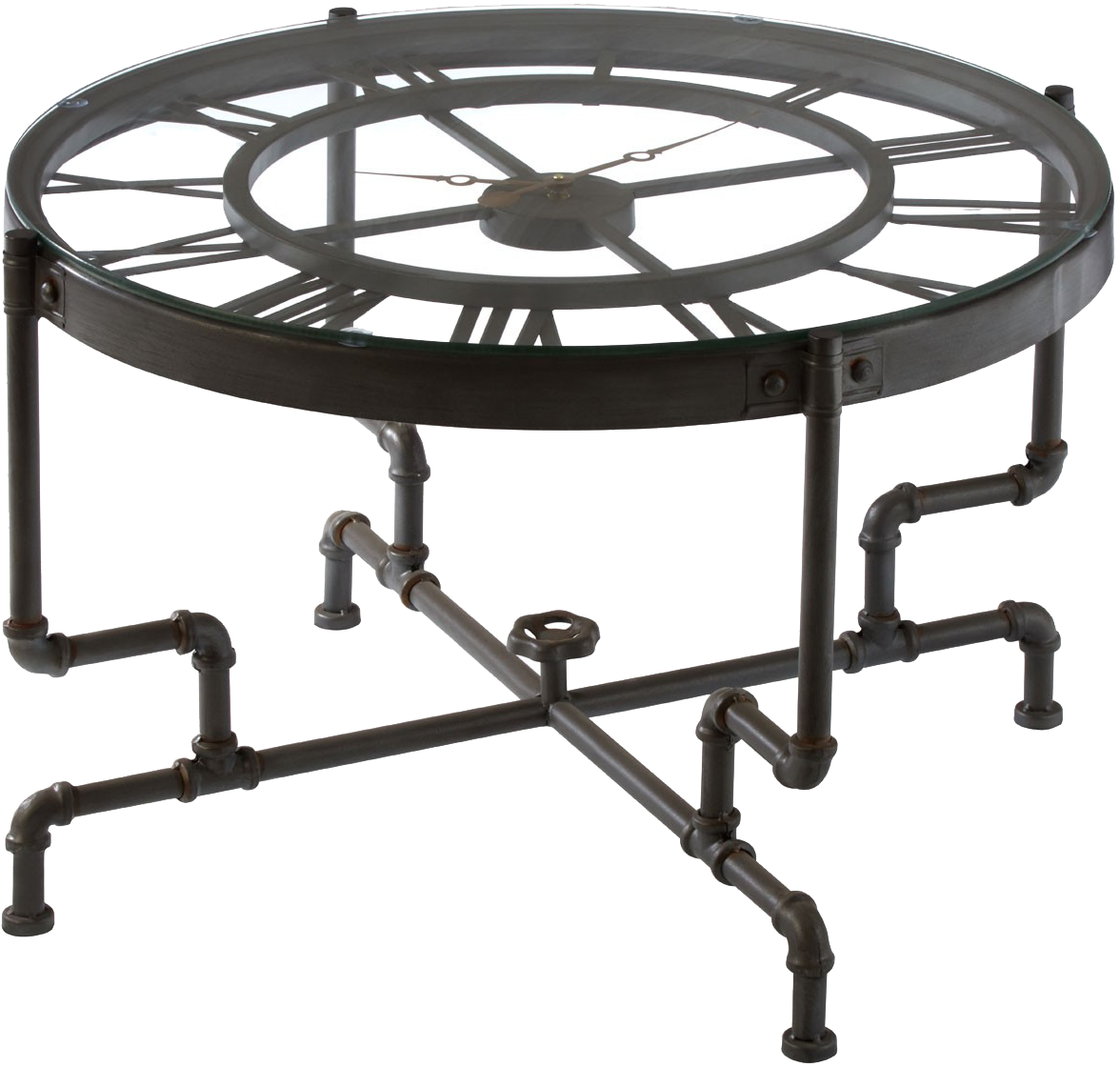 - Lagoon Collections CISELY Clock Style Coffee Table With Black