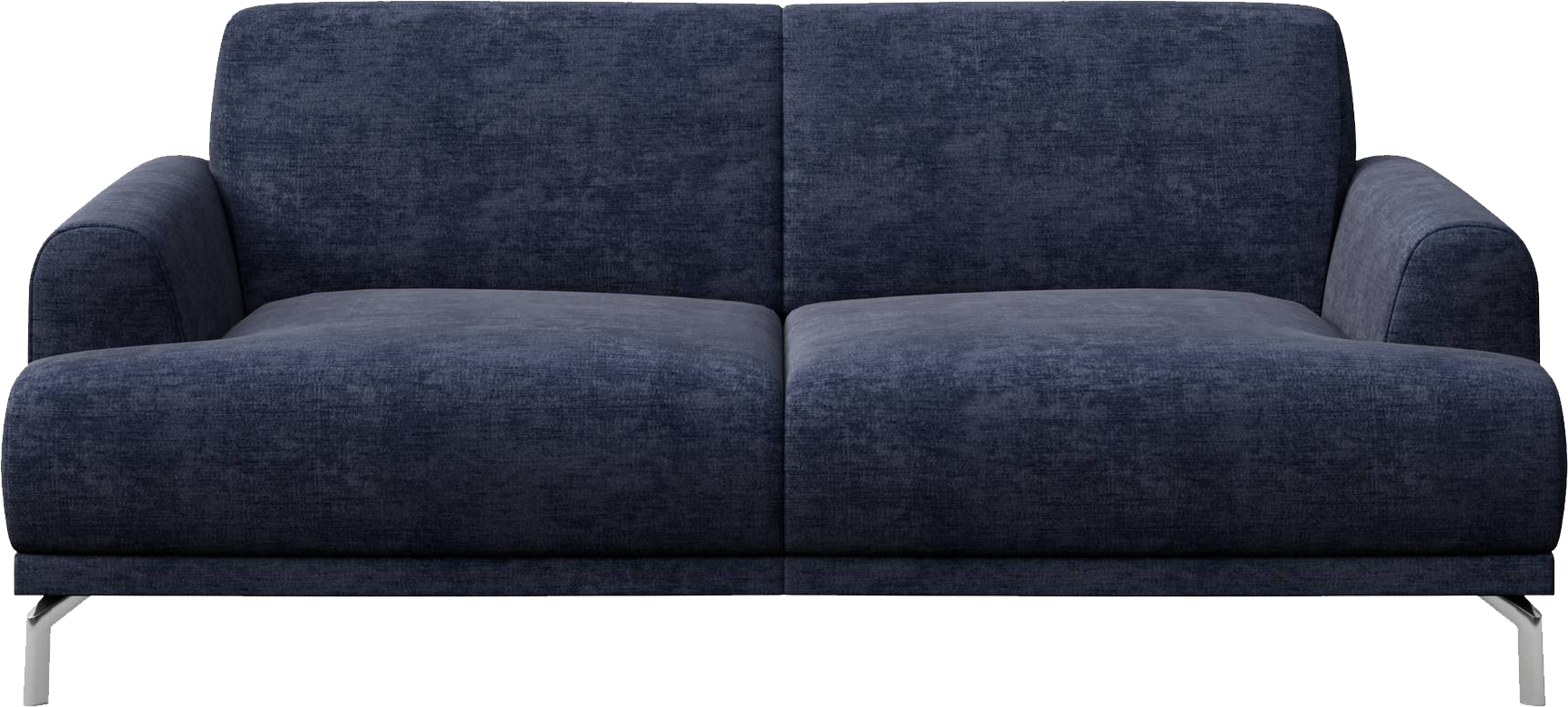 Brilliant Mesonica Puzo 2 Seater Sofa Upholstered In Navy Blue Fabric Home Interior And Landscaping Eliaenasavecom