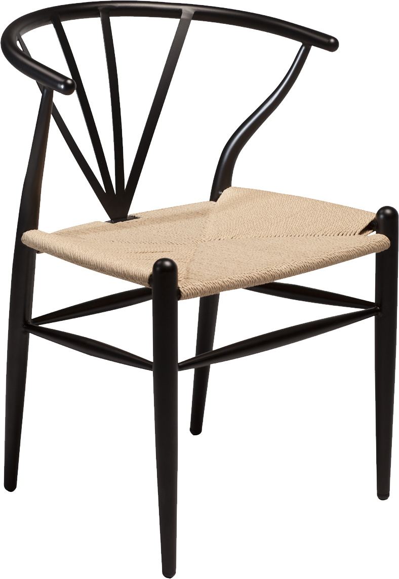 Fantastic Danform Delta Dining Chair In Black Lacquered Metal Frame And Natural Seat Caraccident5 Cool Chair Designs And Ideas Caraccident5Info