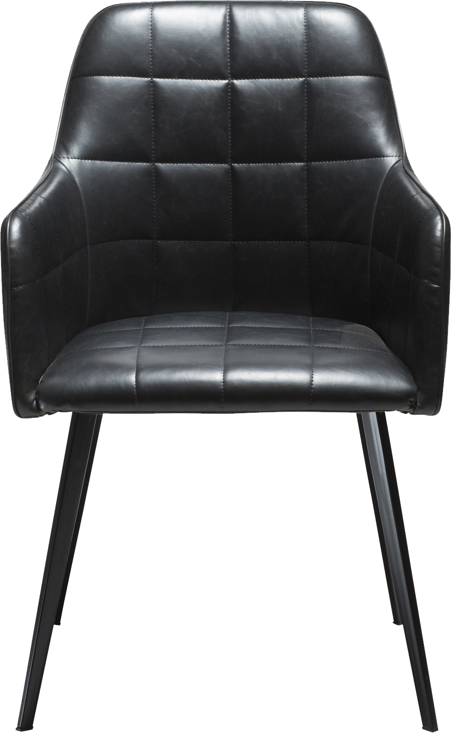 Amazing Danform Embrace Dining Chair In Black Faux Leather With Black Legs Cjindustries Chair Design For Home Cjindustriesco