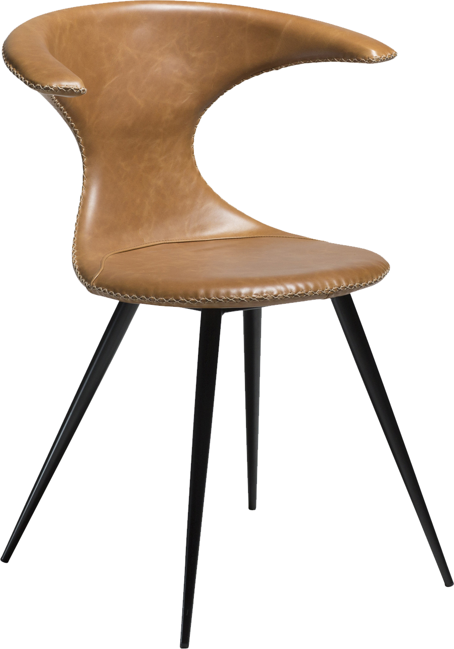 Picture of: Danform Flair Dining Chair In Light Brown Faux Leather With Black Legs Moodmaestro