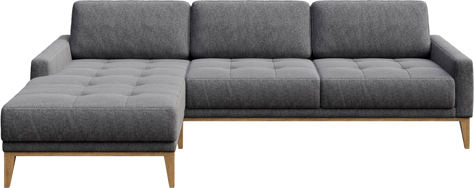Amazing Mesonica Musso Tufted Corner Sofa Upholstered In Grey Fabric Machost Co Dining Chair Design Ideas Machostcouk