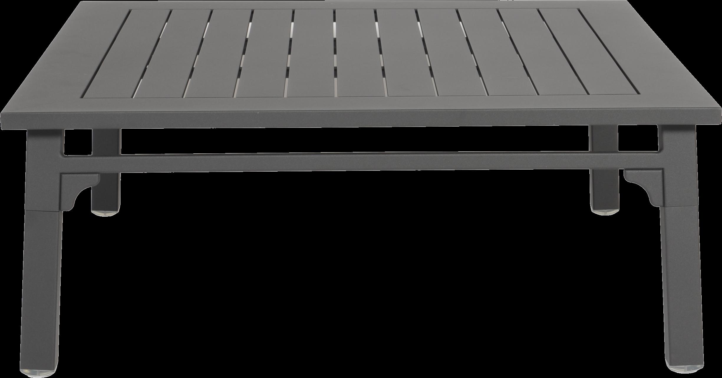 Skyline Classique Garden Coffee Table In Dark Grey Powder Coated Aluminium Frame With Fabric Waterproof Cushion