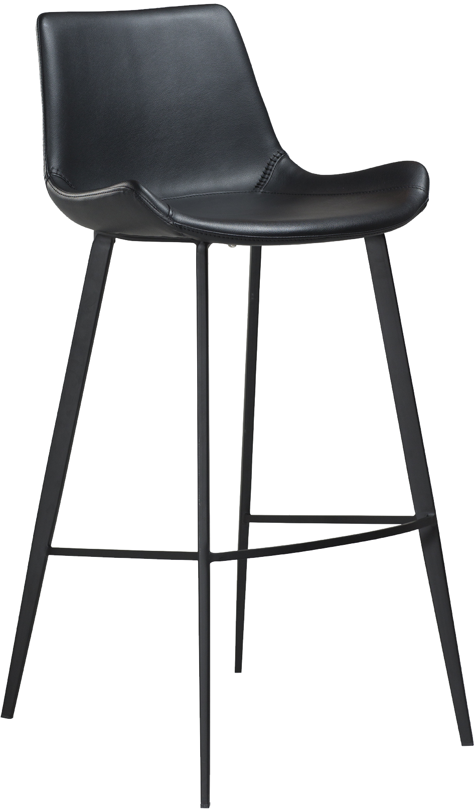 Phenomenal Danform Hype Bar Stool In Vintage Black Faux Leather With Black Legs Cjindustries Chair Design For Home Cjindustriesco